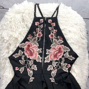 NLW Floral Embroidered Romper